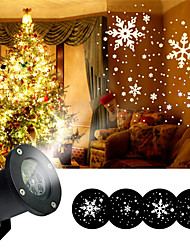 cheap -Moving Snow Laser Projector Lamp IP68 Waterproof 12W White Snowflake LED Stage Light For Christmas New year Party Garden Yard Decoration Landscape Lamp EU US UK Plug AC110V 220V