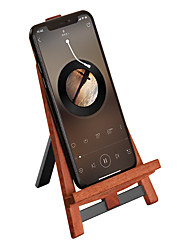 cheap -Phone Holder Stand Mount Desk Phone Holder Gravity Type Wooden Aluminum Alloy Phone Accessory iPhone 12 11 Pro Xs Xs Max Xr X 8 Samsung Glaxy S21 S20 Note20