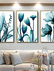 cheap -Wall Art Canvas Prints Painting Artwork Picture Blue Plant Floral Home Decoration Decor Rolled Canvas No Frame Unframed Unstretched