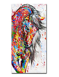 cheap -Oil Painting Handmade Hand Painted Wall Art Mintura Modern Abstract Horse Animal Home Decoration Decor Rolled Canvas No Frame Unstretched