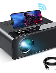 cheap -W13 WiFi Projector with Synchronize Smartphone Screen 1080P HD Portable Projector with 6000 Lux and 200 Display Compatible with Android/iOS Black