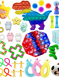 cheap -Sensory Pop Fidget Toys Set 42 Pack Autism Special Figit Toys Packages for Kids Adult Stress Relief and Anti-Anxiety Toy Squeeze Widget for Relaxing Therapy Perfect for ADHD Birthday Gift Party Favor