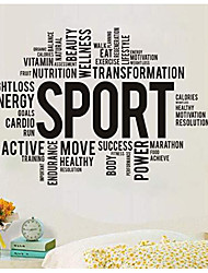 cheap -workout vinyl wall decal wellness gym fitness healthy lifestyle sport stickers mural (#3158di)