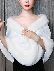 cheap -Sleeveless Elegant / Cute Faux Fur Daily / Wedding Party Women's Wrap With Appliques / Solid