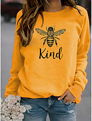 cheap -women bee kind sweatshirt long sleeve blouse graphic pullover letter print top (green,x-large)