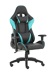 cheap -Gaming Chairs Office Swivel Chairs with headrest and Lumbar Pillow Blue-A