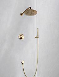 cheap -Shower Faucet Set - Rainfall Shower Contemporary Mount Inside Ceramic Valve Bath Shower Mixer Taps
