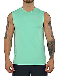 cheap -men's quick dry fitted athletic tank top upf 50+ sun protection spf tops running sports fitness training workout sleeveless shirts, mint green, medium-tall