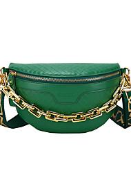 cheap -Women's Bags PU Leather Sling Shoulder Bag Zipper Daily 2021 Khaki Green White Black