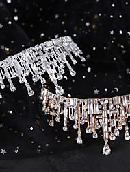 cheap -Retro Crown Bride Headdress Luxury Atmosphere Semi-circular Crown Super Fairy Temperament Wedding Dress Accessories