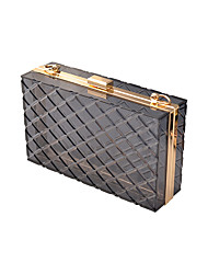 cheap -Women's Bags Acrylic Evening Bag Chain Solid Colored Party Wedding Evening Bag Chain Bag Blue Fuchsia Gray
