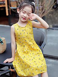 cheap -fashion flora printed sleeveless dresses + hat suit 2021 summer kids girls' dress baby princess skirt sun hat children's outdoor party casual clothes g501vwu