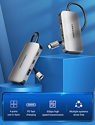 cheap -VENTION Support Power Delivery Function TNDHB USB 3.0 to USB 3.0 USB 3.0 USB C USB Hub 5 Ports For Windows, PC, Laptop