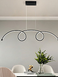 cheap -LED Pendant Light 100 cm Single Design Chandelier Aluminum Artistic Style Modern Style Stylish Painted Finishes Artistic LED 110-120V