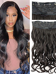 cheap -Synthetic Extentions Body Wave Bouncy Curl Synthetic Hair 24 inch Hair Extension Clip In 1 Pack Smooth Heat Resistant Elastic All Christmas Gifts Party Evening Party