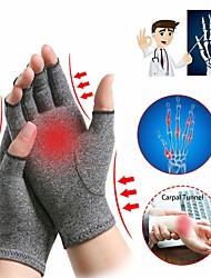 cheap -1 Pair Arthritis Hand Compression Gloves Comfy Fit Fingerless Design Breathable Moisture Wicking Fabric Alleviate Rheumatoid Pains Ease Muscle Tension
