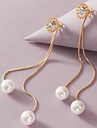 cheap -Women's Earrings Tassel Fringe Stylish Simple Elegant Romantic Sweet Imitation Pearl Earrings Jewelry Gold For Christmas Wedding Gift Prom Date 1 Pair