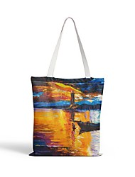 cheap -Canvas Shoulder storage bag back to school Halloween goody bag colorful beatiful portable grocery shopping cloth book tote