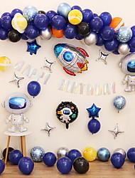 cheap -Boy's Birthday Party Balloon Starry Sky Series Decoration Astronaut Astronaut Theme Aluminum Film Package