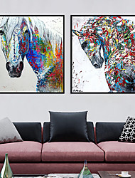 cheap -Wall Art Canvas Prints Painting Artwork Picture Abstract Horse Animal Home Decoration Decor Rolled Canvas No Frame Unframed Unstretched