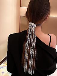 cheap -Exaggerate Bright Flash Diamond Tassel Fairy Headdress Fashion Full Diamond Design Fashion Hair Accessories Women