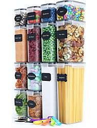 cheap -Airtight Food Storage Containers Set 14 Piece  Kitchen Pantry Organization and Storage Set BPA-Free Plastic Canisters with Durable Lids Ideal for Cereal Flour and Sugar