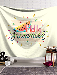 cheap -Summer Time Wall Tapestry Art Decor Blanket Curtain Hanging Home Bedroom Living Room Decoration Polyester