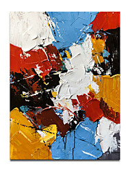 cheap -Oil Painting Handmade Hand Painted Wall Art Modern Abstract 3D Palette Knife Colorful Home Decoration Decor Rolled Canvas No Frame Unstretched