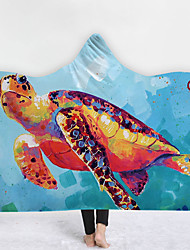 cheap -New Hooded Blankets New Products Home Blankets Children Blankets Thicker Blankets Double-layer Blankets Hand-painted Animal Series