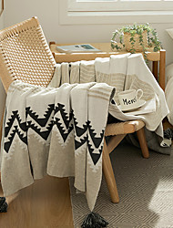 cheap -Nordic style All cotton sofa blanket cover blanket office siesta shawl blanket knitted wool blanket leisure air conditioning blanket