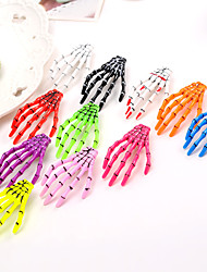 cheap -11 Pcs/set Hand Bone Hairpin Halloween Ghost Claw Skeleton Claw Fluorescent Hairpin Crystal with Japan Harajuku Hair Accessories