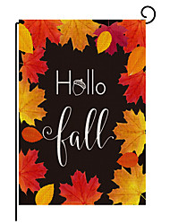 cheap -2021 new autumn pumpkin maple leaf series pattern double-sided printing garden flag factory direct sales support