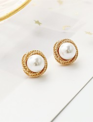 cheap -Women's Earrings Helix Earrings Fashion Stylish Simple European Korean Sweet Imitation Pearl Earrings Jewelry White For Wedding Party Evening Street Birthday Beach