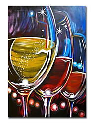 cheap -Wall Art Canvas Prints Painting Artwork Picture Abstract Wine GlassRedBeer Festival Home Decoration Decor Stretched Frame Ready to Hang