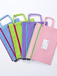 cheap -A4 Letter Size File Folders back to school gift Popular Colored Home Office Document Keepeer Pocket Organizer 1 pockets with Button zipper 1pcs