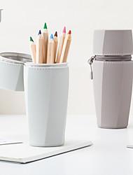 cheap -Multifunctional Pen Holder Creative Korean Small Fresh Student Lovely Desktop Stationery Box Office Pen Bag 15.9*6.7 cm