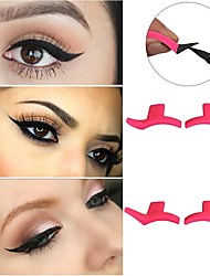 cheap -4 pcs/Set New 1 Pair Cat Eye Eyeliner Stamp Eyeshadow Cosmetic Easy To Makeup Wing Style Tools Eye Liner Stamping Stencil Tools