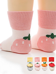 cheap -Kids Unisex Stockings 1pc Tomato pineapple Strawberry Fruit Animal Cotton Daily Wear Casual Socks 6 Months+