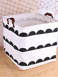 cheap -The Factory Supplies Cartoon Small Fresh Cartoon Pattern Receiving Basket Receiving Basket Sundry Storage Basket Basket 32*32*32cm
