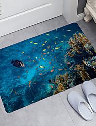 cheap -Tropical Fish Series Digital Printing Floor Mat Modern Bath Mats Nonwoven / Memory Foam Novelty Bathroom
