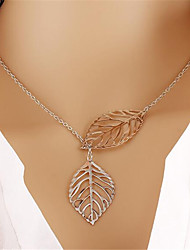 cheap -Women's Pendant Necklace Charm Necklace Classic Leaf Fashion Chrome Silver Gold 45 cm Necklace Jewelry 1pc For Christmas Party Evening Street Gift Birthday Party