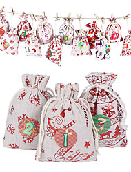 cheap -Christmas Combo Gift Bag With Beam Mouth Drawstring Candy Bag Halloween Gift Packaging Bag