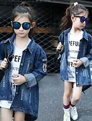 cheap -Kid's Girls' Jacket & Coat Photo Color Solid Color Cotton Fashion 3-8 Years / Fall / Spring