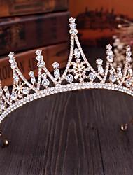 cheap -Crown Tiara Bride Rhinestone Atmosphere Diadem Sweet Princess Birthday Headband Wedding Dress Photo Accessories