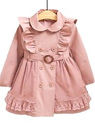 cheap -hot 2-12y children jackets trench coats for girls brand jackets coats cute lace cotton kids trench coat baby jacket for girls x0728