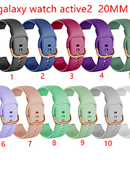cheap -Smart Watch Band for Samsung Galaxy 1 pcs Business Band TPE Replacement  Wrist Strap for Samsung Galaxy Watch Active 2 20mm