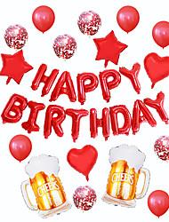 cheap -Champagne Bottle Set Aluminum Foil Balloons Birthday Party Party Decorations Aluminum Foil Balloons