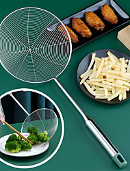 cheap -Stainless Steel Line Colander Handle Kitchen Tool Pot Line Frying Strainer Colander Drain Line Fishing Spoon Home Queen