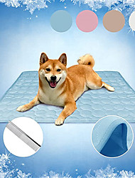 cheap -Dog Cooling Mat Breathable Ice Silk Cooling Pad Blanket for Pets for Dogs Portable & Washable Pet Cooling Blanket for Kennel/Sofa/Bed/Floor