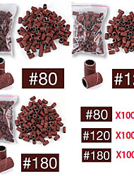 cheap -300pcs 80# 120# 180# Options Nail Dedicated Sanding Ring Bands Grinding Head Polisher Essential Supplies Sand Circle For Nail Drill File Machine Manicure Tool